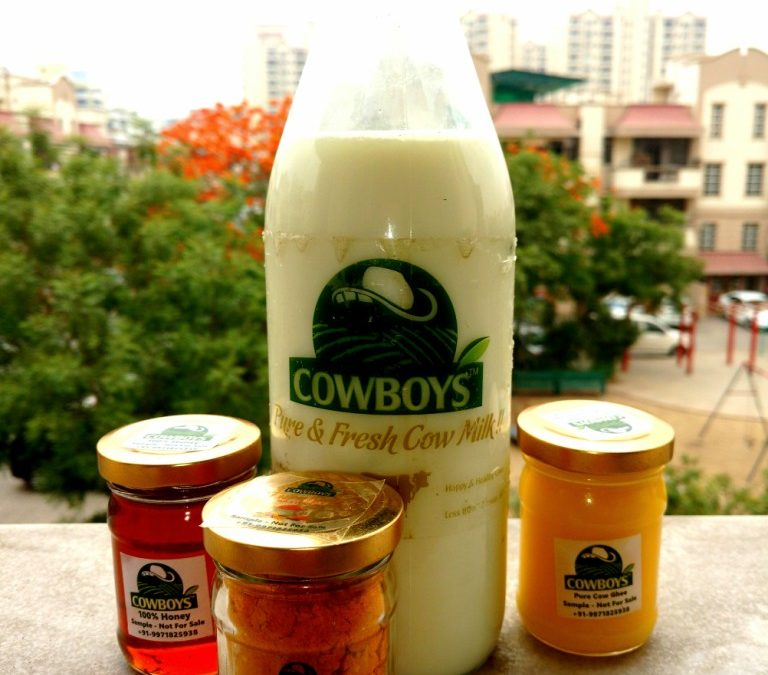 Order organic milk and products from Cowboys