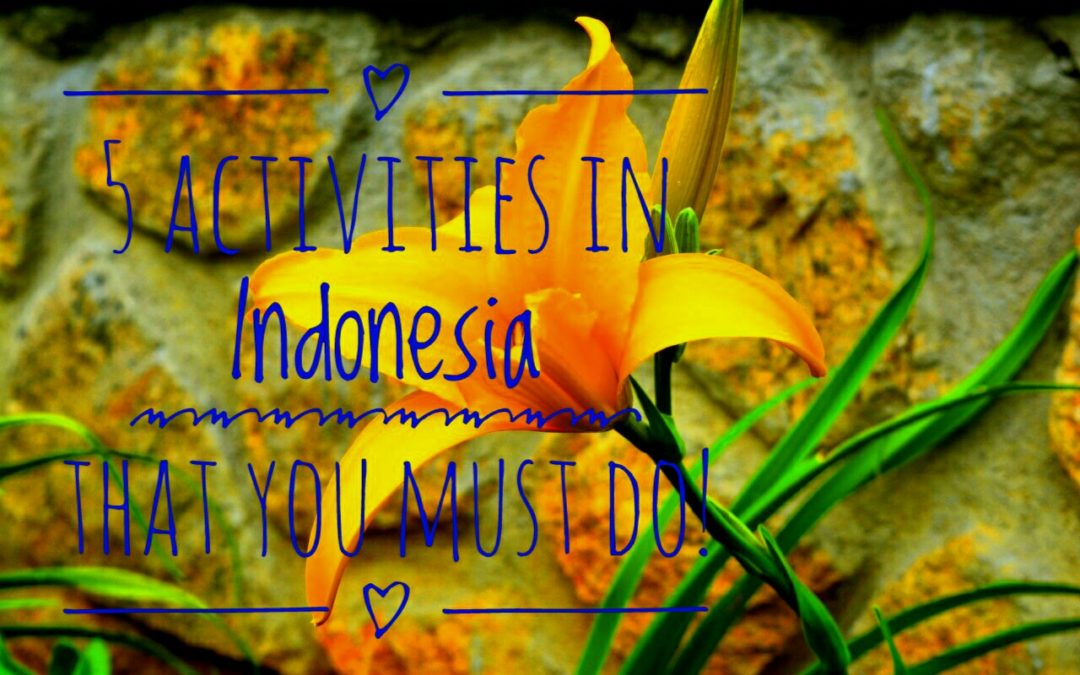 5 Activities in Indonesia that you must Do!