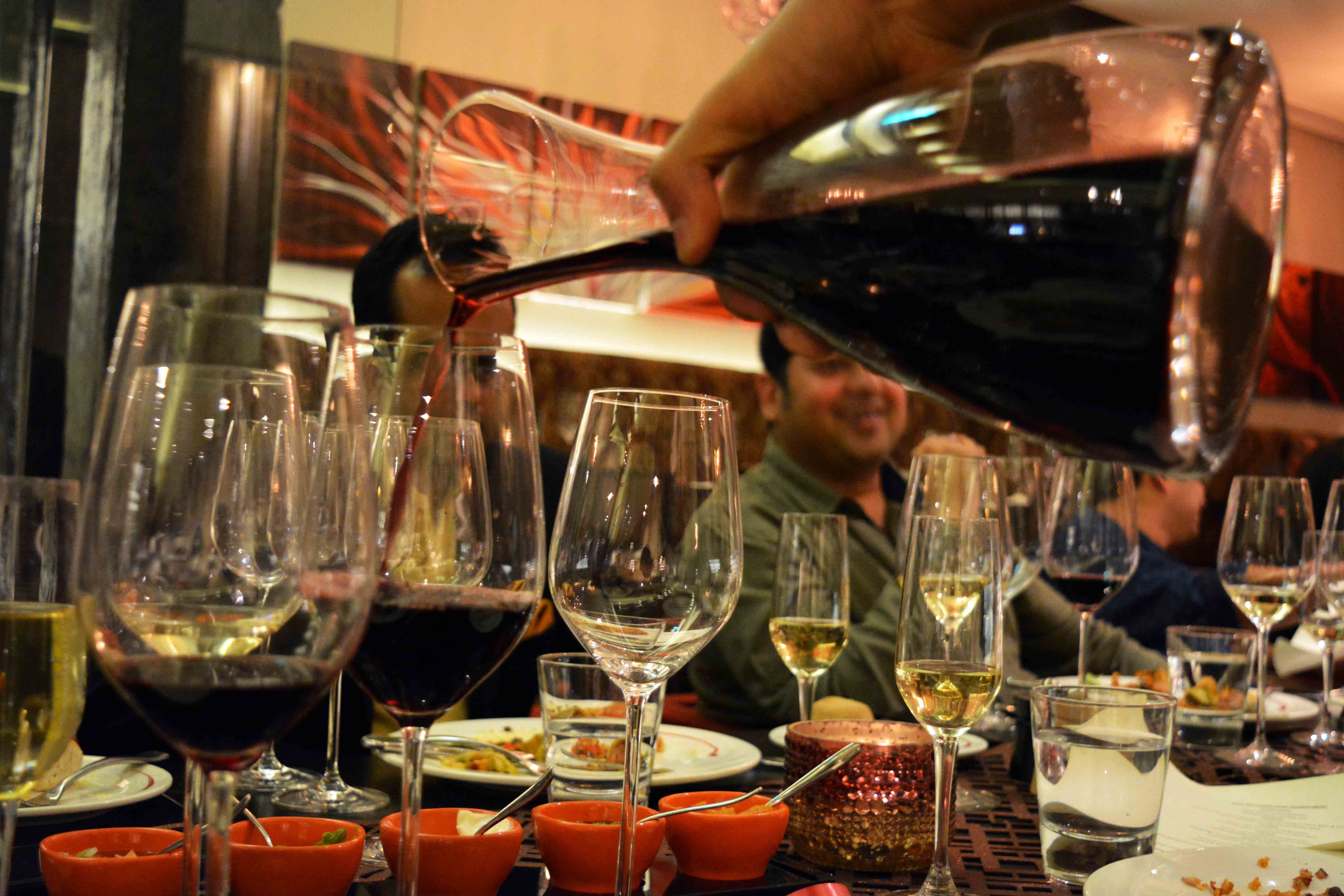 Fired up by the Grover Zampa Wine Dinner at Wildfire Crowne Plaza, Gurgaon