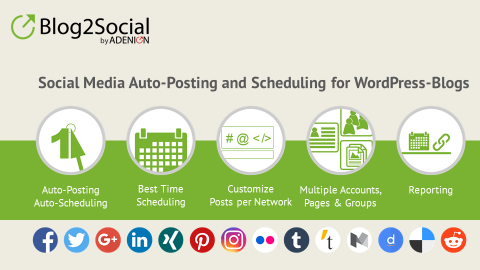 Auto post or schedule your post with blog2social
