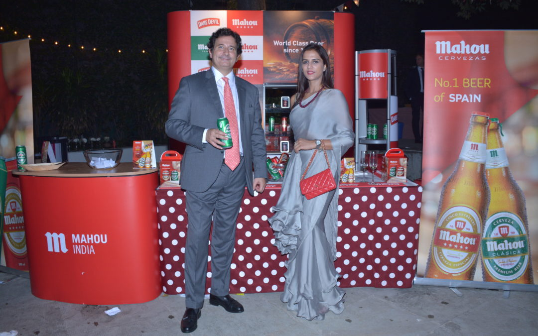 Celebrating National Day of Spain with Mahou India
