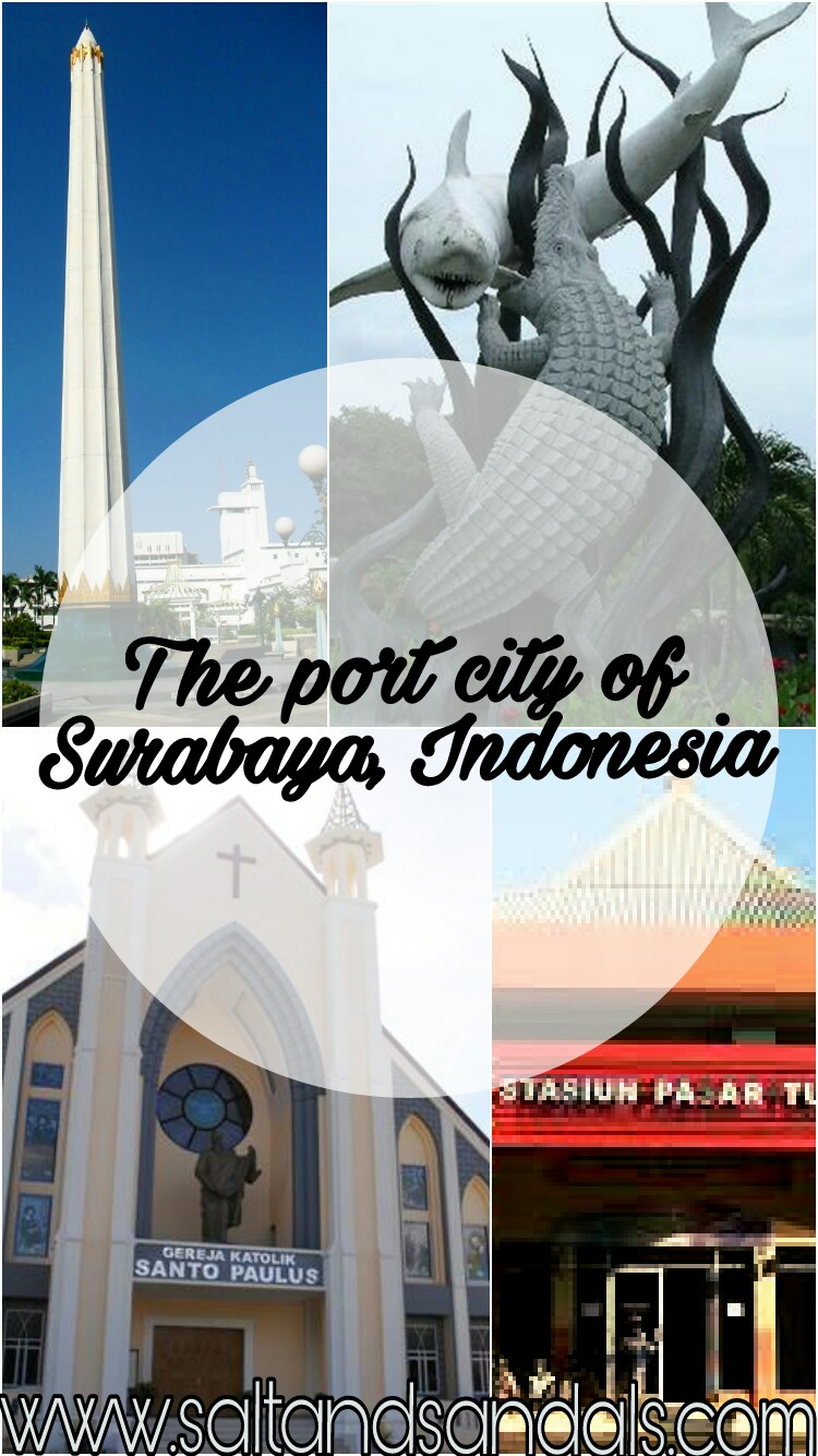 The port city of Surabaya, Indonesia