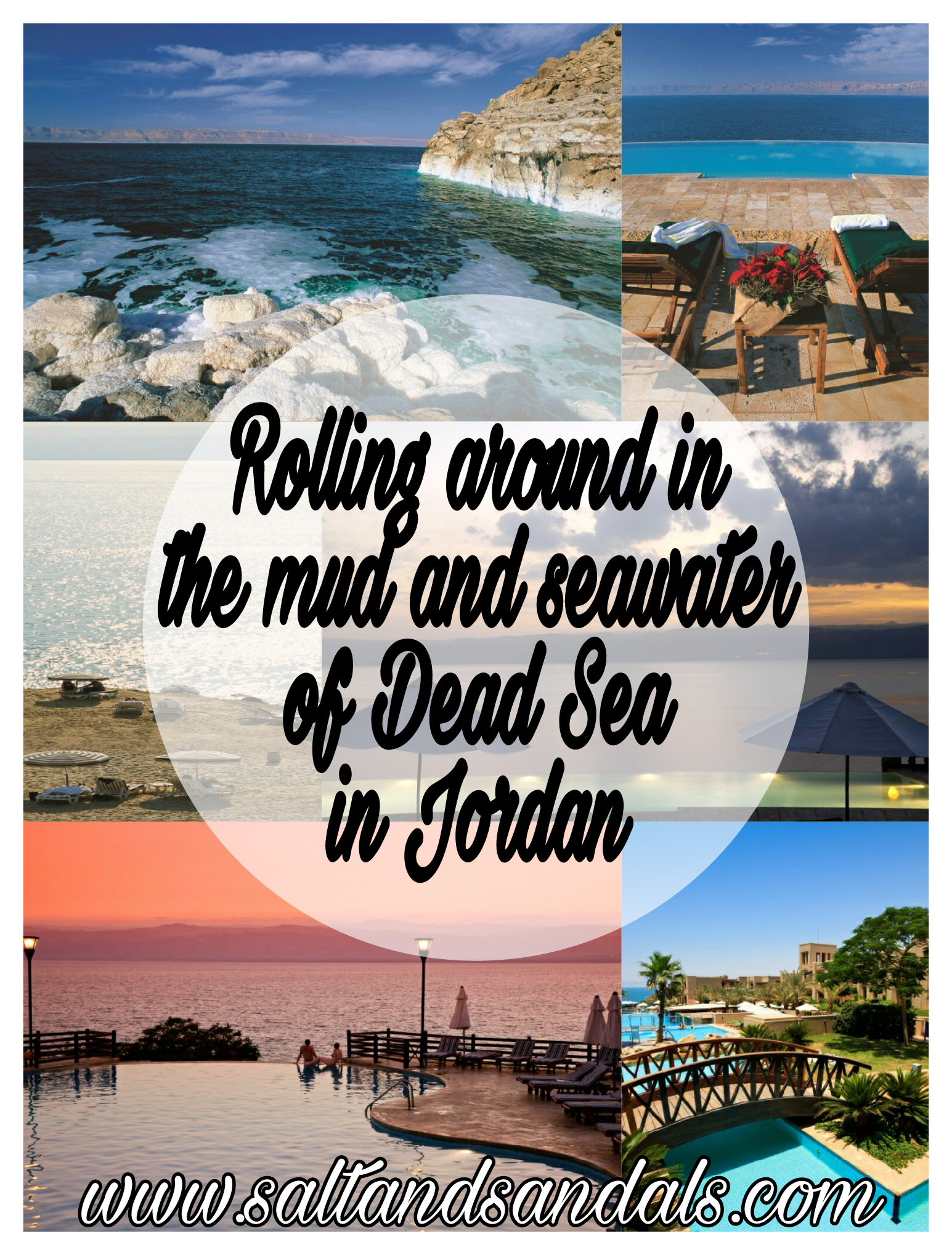 Rolling around in the mud and seawater of the Dead Sea in Jordan