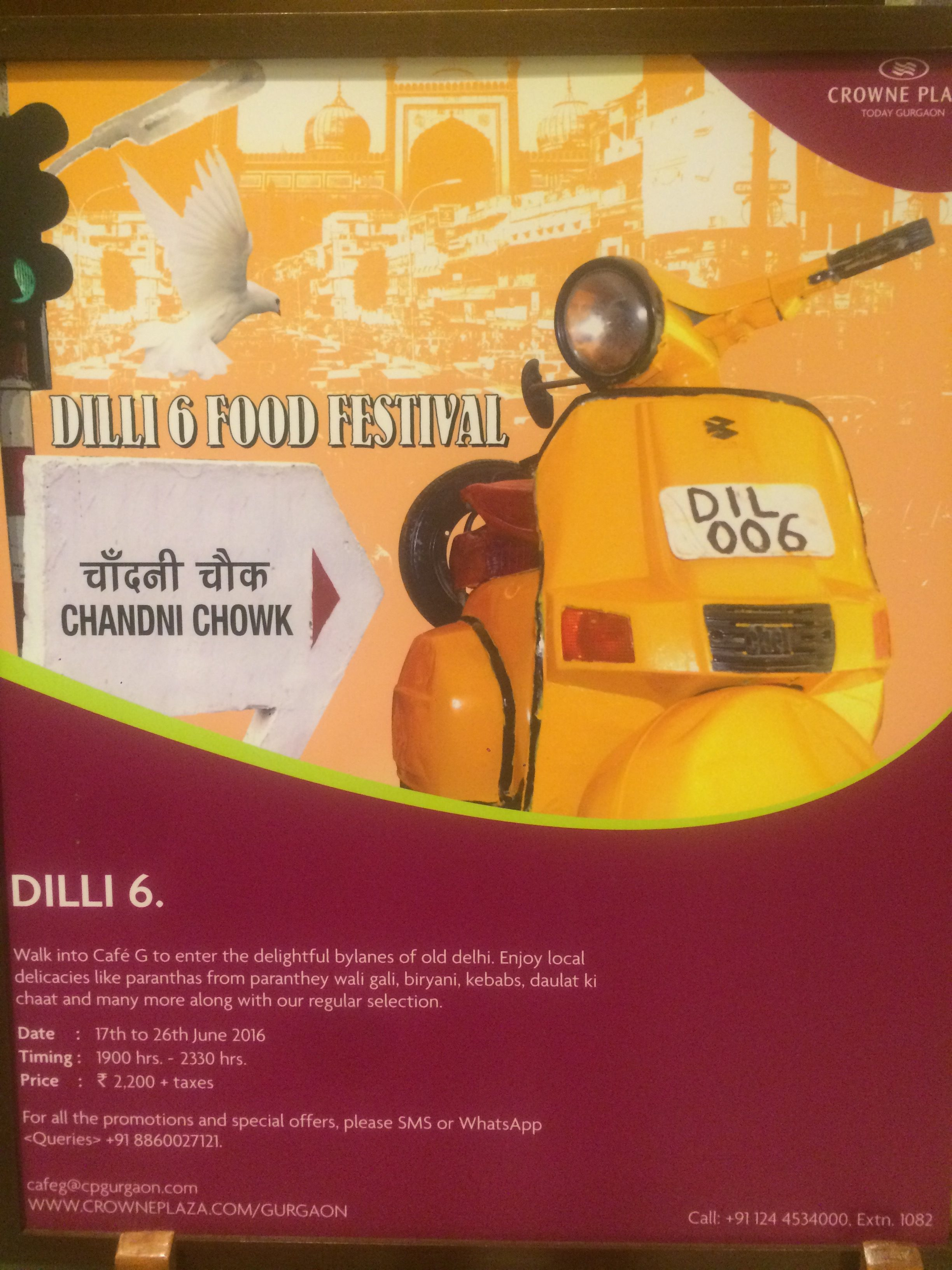 Dilli-6 Food Festival at Cafe G, Crowne Plaza Today Gurgaon
