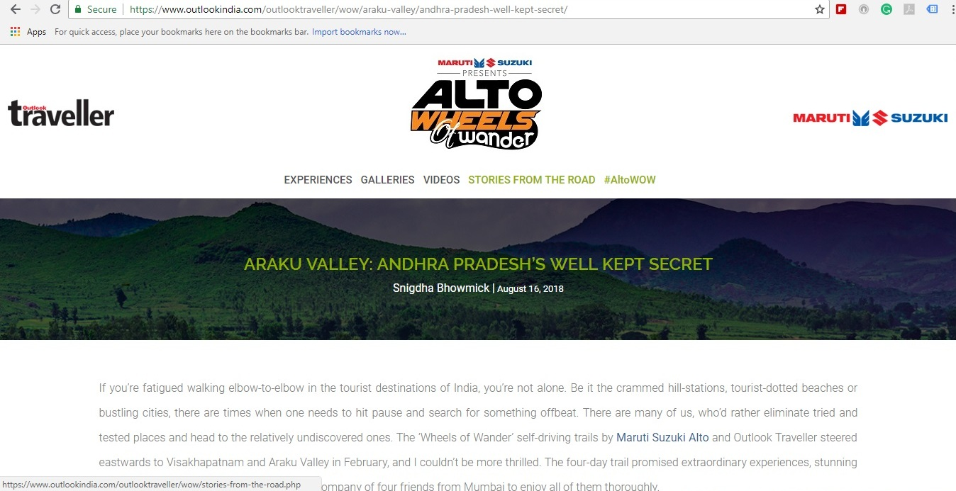 Ander Page Videos outlook traveller